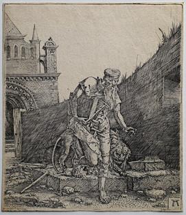 Saint Jerome Walking in a Churchyard