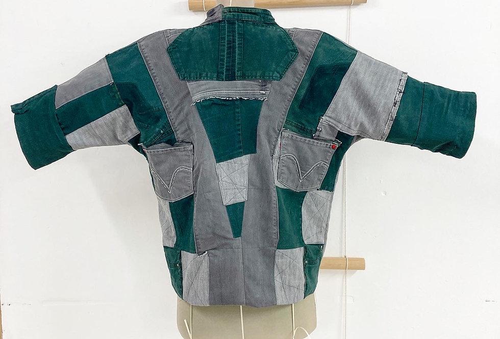 Green Patchwork Jacket- por Carito Mendoza