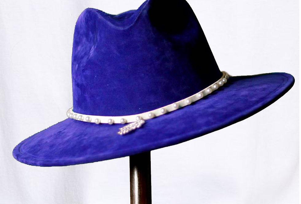 Sombrero Artesanal Azul - por Camila Ascencio