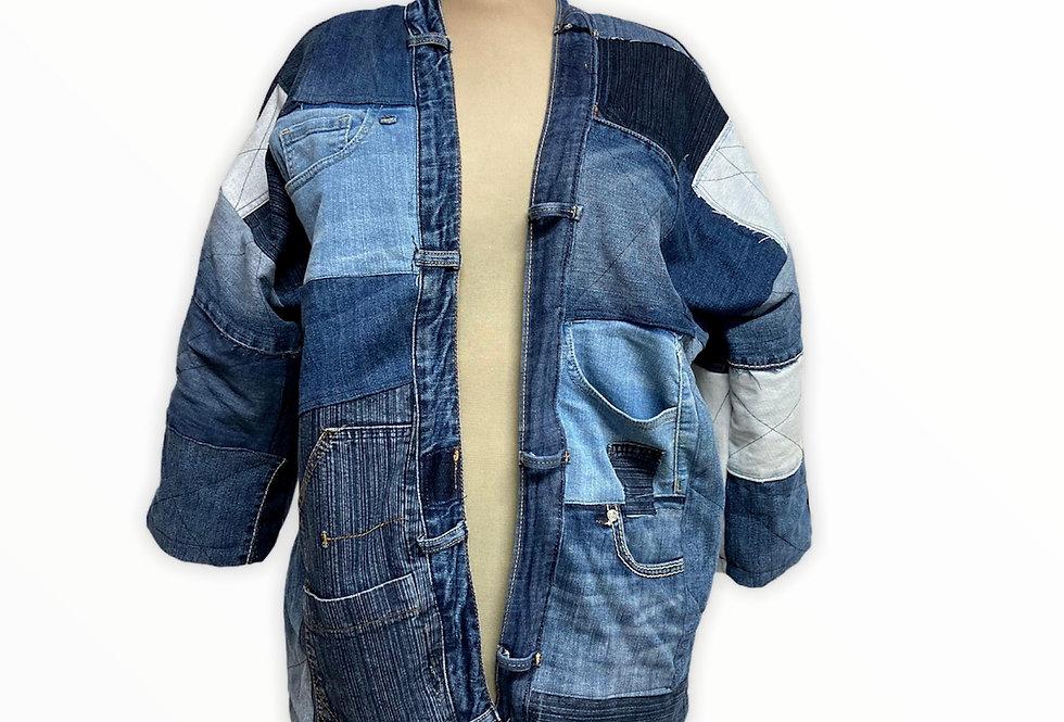 Blue Patchwork Jacket- por Carito Mendoza