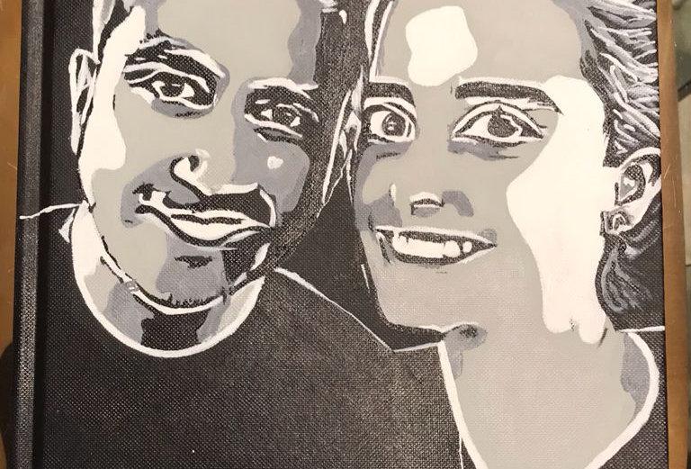 Journal Pintado a Mano Personalizado (blanco y negro) - por Isabella Ro