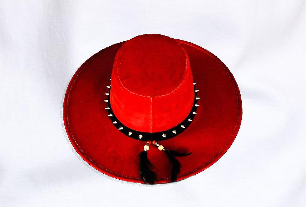 Sombrero Artesanal Rojo - por Camila Ascencio