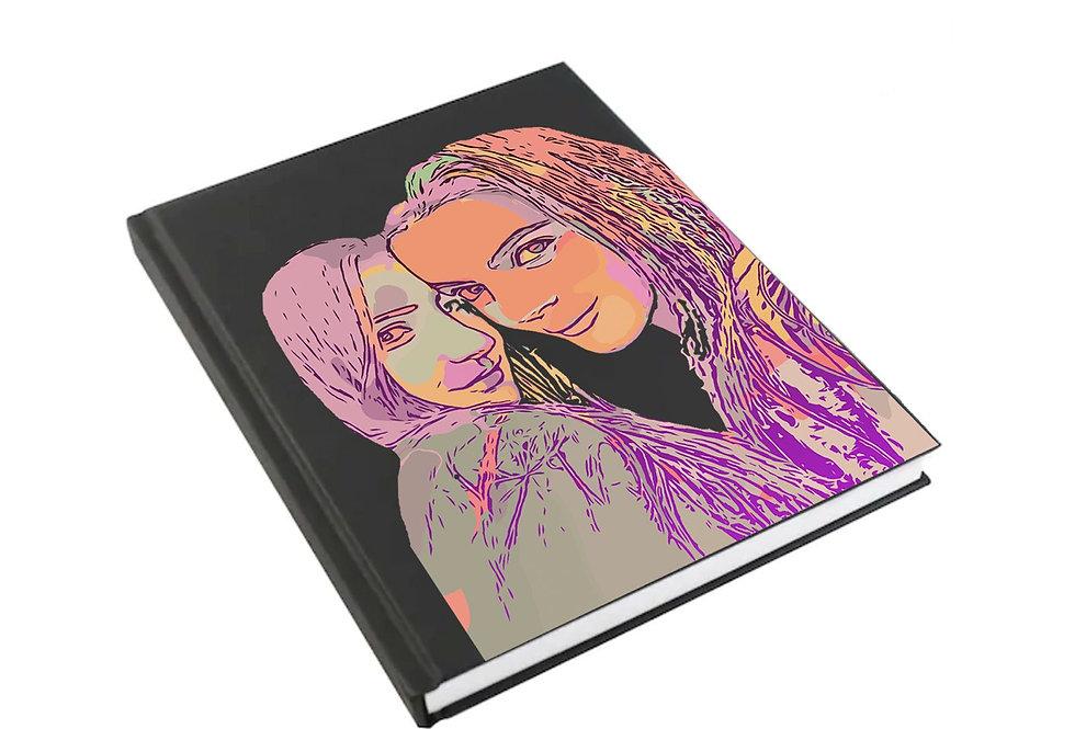 Journal Pintado a Mano Personalizado (a color) - por Isabella Ro