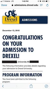 Drexel University Admit Letter.png