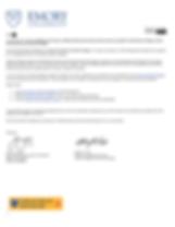 Emory University Acceptance Letter