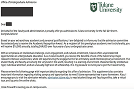 Tulane University Admit Letter.png