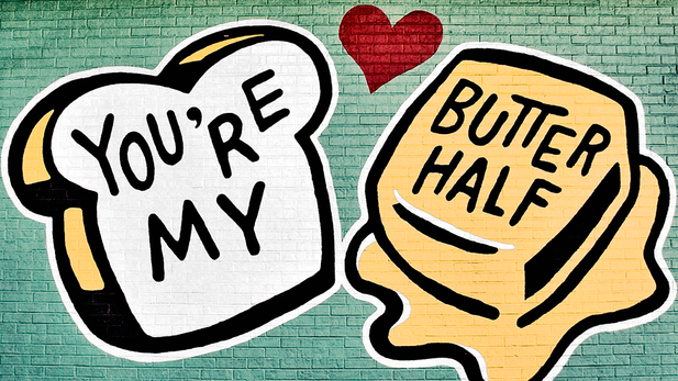 You're My Butter Half Postcard
