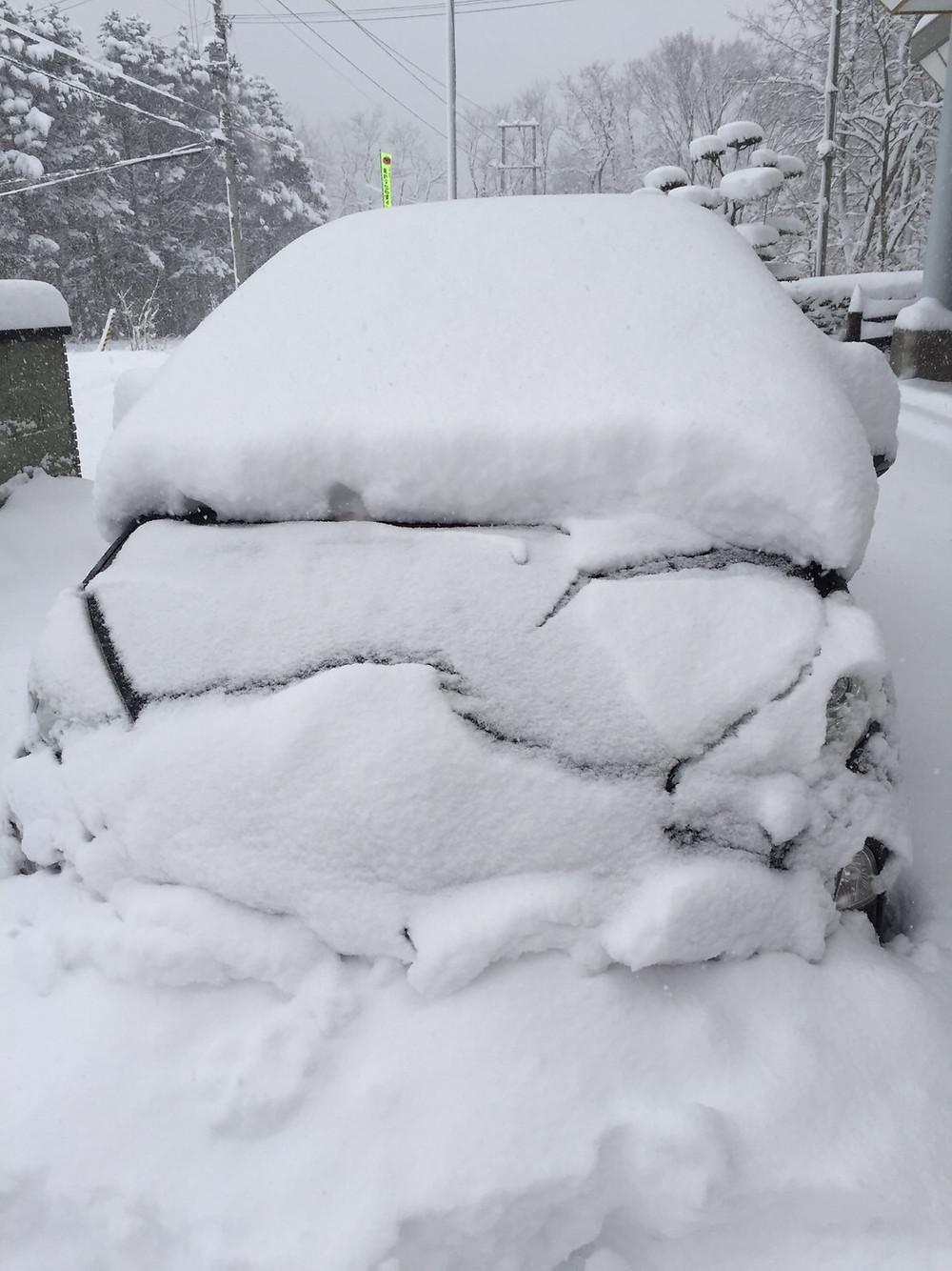雪の中の車2