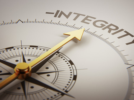 Integrity – You have to DO what you want to BE