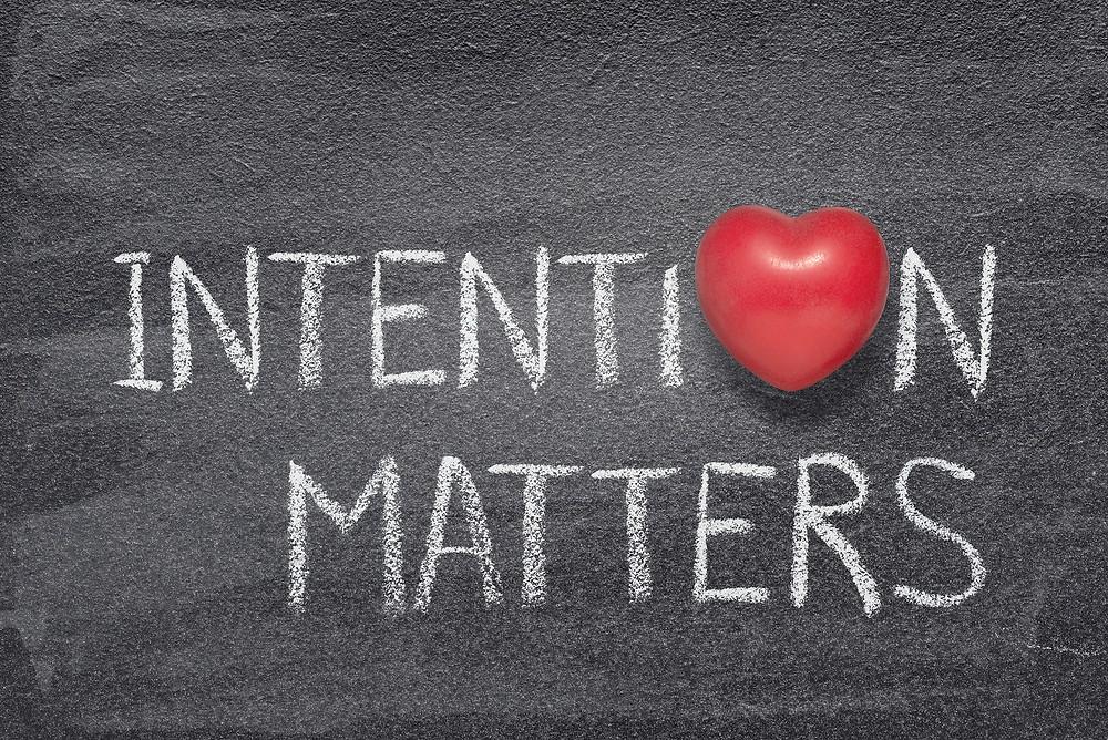 Intention matters