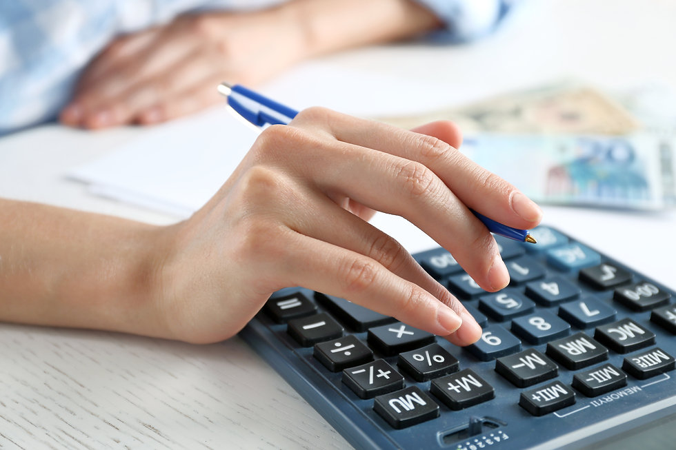 Accounting concept.Analyzing finance rep