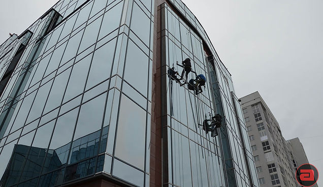 Витраж светопрозрачные алюминевые фасады