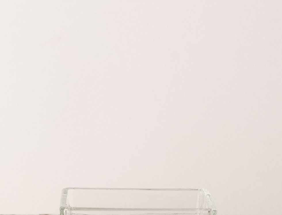 Vase Cube flach