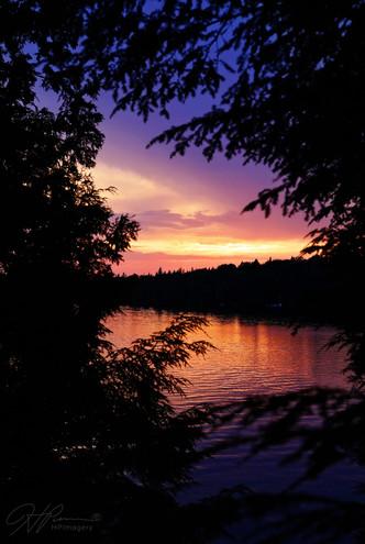 Sunset on Smoke Lake, Algonquin Park