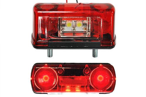 Подсветка номера LED 24V красная EURO