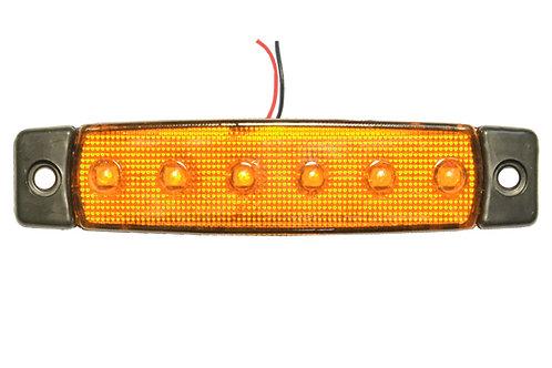 Фонарь габаритный LED 24V, желтый L=95мм