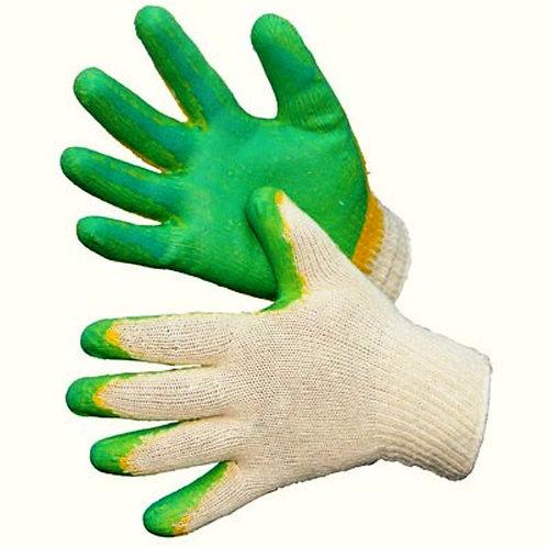 Перчатки хб (резина)
