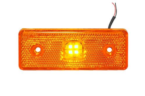 Фонарь габаритный LED 24V без кронштейна, желтый
