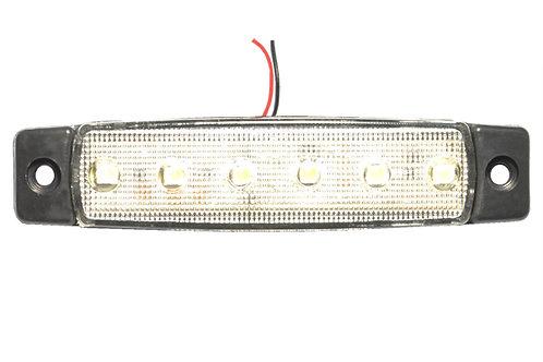 Фонарь габаритный LED 24V, белый L=95мм