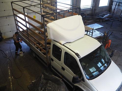 Увеличение кузова, Тент на Iveco