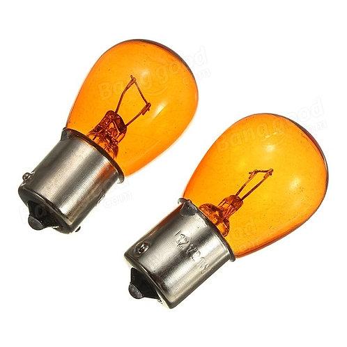 Лампочка автомобильная желтая, PY21W Bau15s 24В 21 Вт