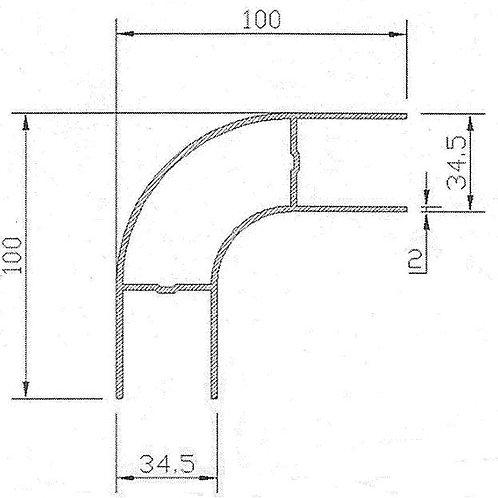 Профиль боковой защиты ( алюм. вертик.) L = 500 мм