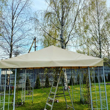 Крыша на беседку из ПВХ 3*3 метра 10000 руб.