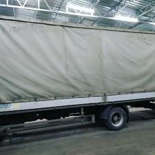 Ремонт тента для Hino 5 метров 2500руб.