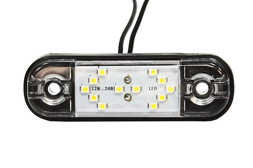"Фонарь габаритный LED 12-24V, MINI, белый (L=85мм, 12-светодиодов ""стрелки"")"