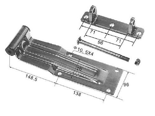 Петля задней двери 300 мм ( скоба под болты )