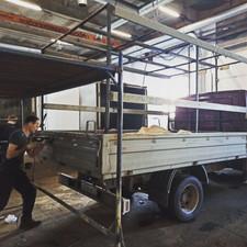 Изготовление тента и установка поворотных скоб на Газель 3м 12000руб.