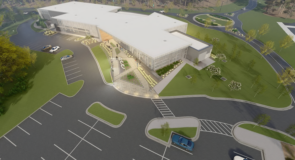 Aerial view of proposed RCC Workforce Development site, courtesy of ADW Architeccts