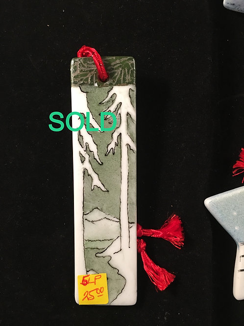 5LP BOOKMARK WITH TREES IN SNOW
