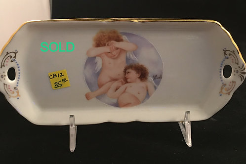 CB12  TRAY WITH CUPIDS