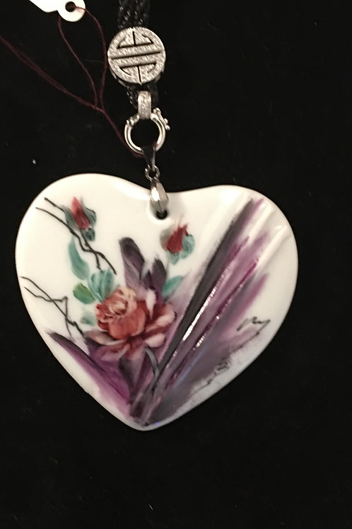 4C  HEART WITH ABSTRACT AND ROSE