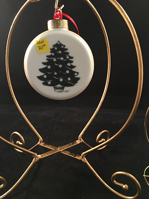2AW   ROUND ORNAMENT WITH TREE