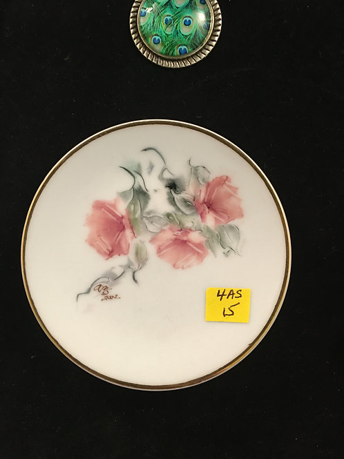 """4AS  - MINI PLATE (2-3"""") WITH ROSES"""