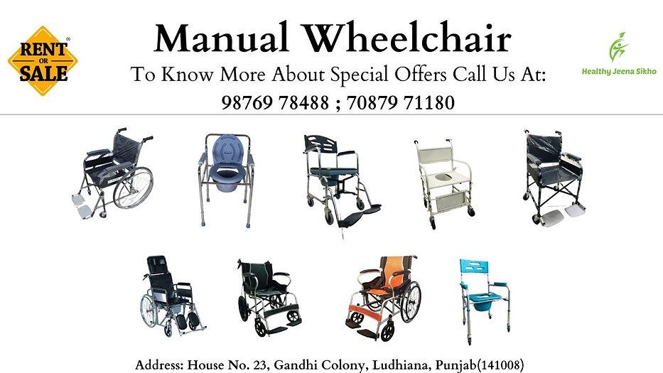 Healthy Jeena Sikho, Ludhiana, Manual Wheelchair
