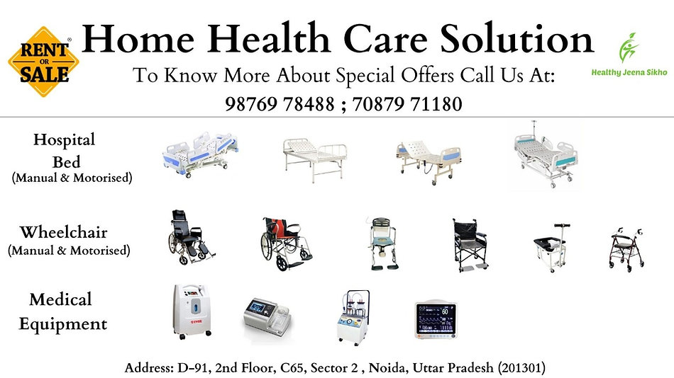 Patient bed on rent in Noida from Healthy Jeena Sikho