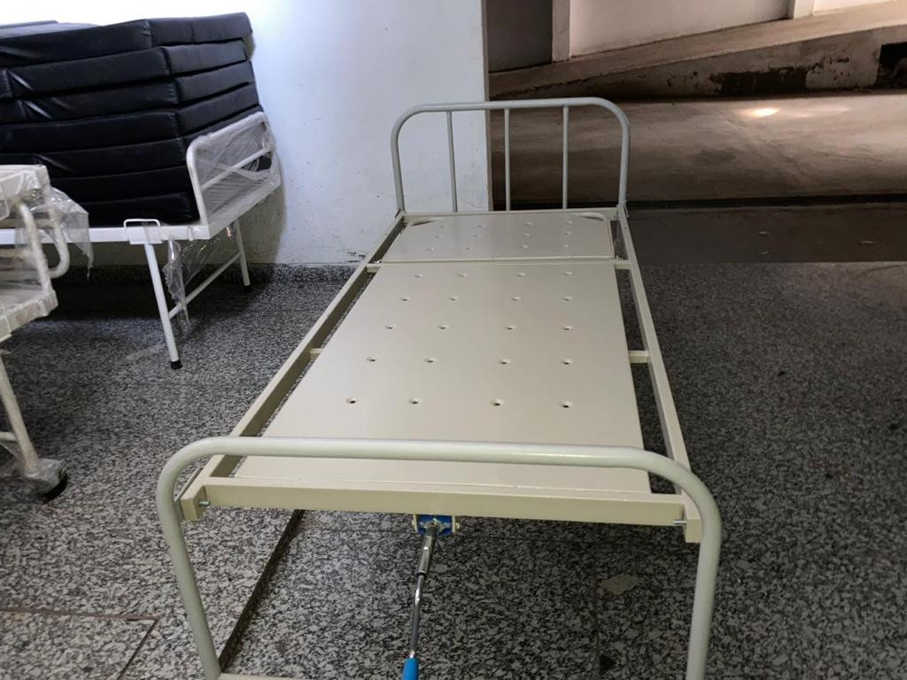 Simple hospital bed without mattress