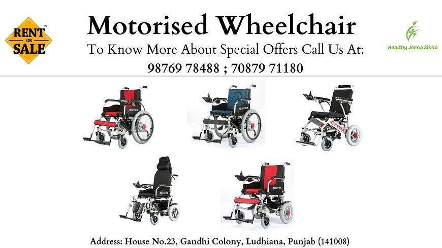 Motorised Wheelchair, Ludhiana, Healthy Jeena Sikho