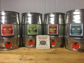 """""""MUSKET"""" beers in for the Whitsun Bank Holiday weekend!!"""