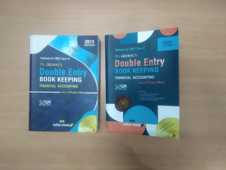 My Reviews on T.S. Grewal's Class XI (Financial Accounting) (Edition 2020)