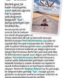 Gazete_Kadýköy-BERLÝNDEN_ÝSTANBULA;_SAZ-
