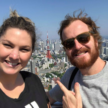 On top of Tokyo Tower