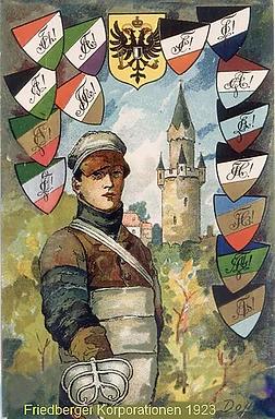 Wappen der Friedberger Corporationen 1923