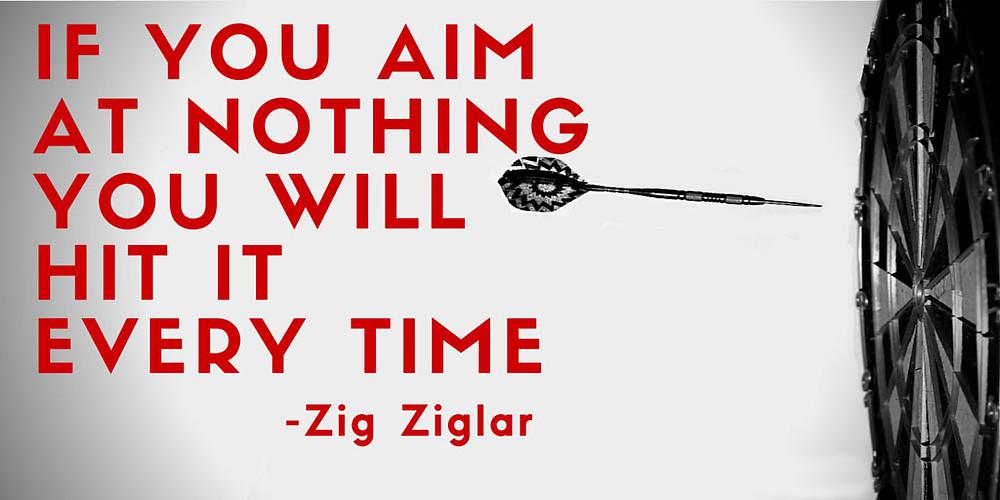 Aim at nothing