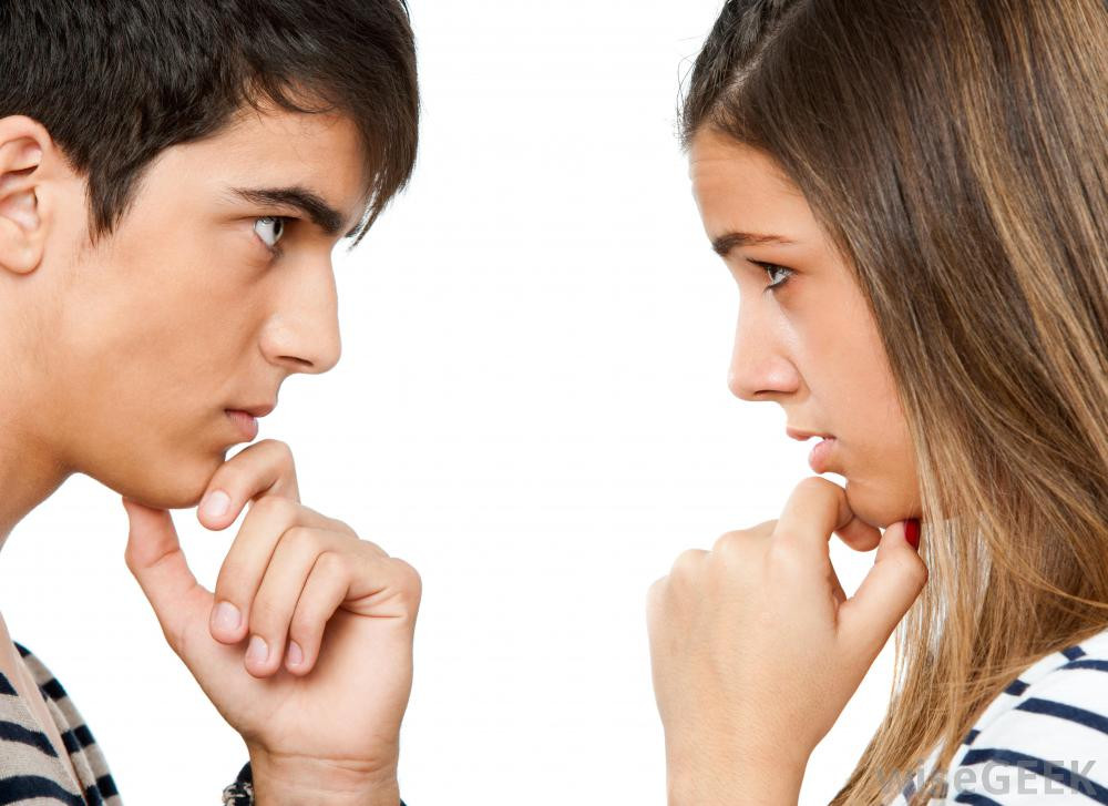 Boy and Girl looking at each other