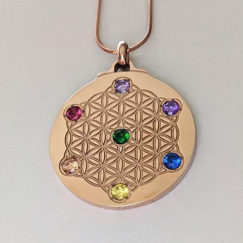 Metatron's Cube: 'Chakra' 18K Rose Gold over Titanium