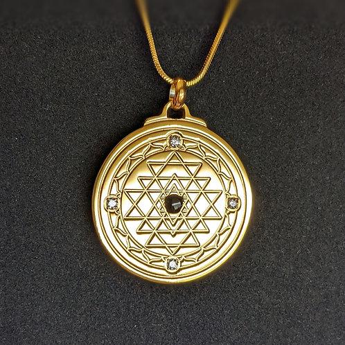 Sri Yantra: 'Balance' 18K Gold over Titanium